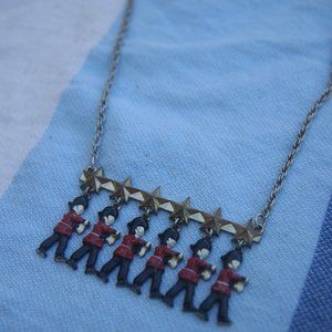 British Marching Beefeater Star Necklace
